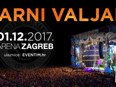 Koncert Parnog valjka u zagrebačkoj Areni, 01.12.2017.
