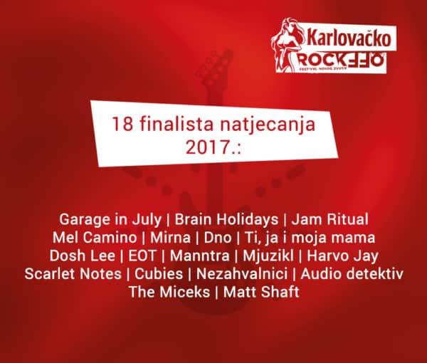 Karlovačko RockOff - finalisti