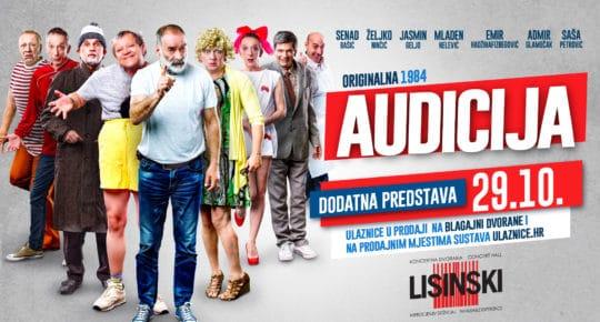 Audicija Lisinski novi termin