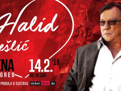 Bliži se Valentinovo i koncert Halida Bešlića u zagrebačkoj Areni - 14.2.2018. !