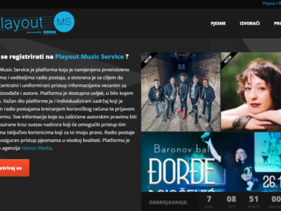 PLAYOUT MUSIC SERVICE – servis za odličnu glazbu!