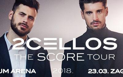 Koncert 2CELLOS u Areni Zagreb zakazan za 23.ožujak gotovo rasprodan!