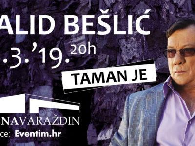 HALID BEŠLIĆ iz Švedske poziva na koncert, 16.3., u Varaždin