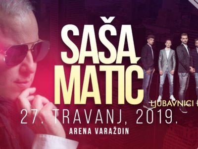 Ljubavnici su predgrupa na spektakularnom koncertu Saši Matiću u Areni Varaždin!