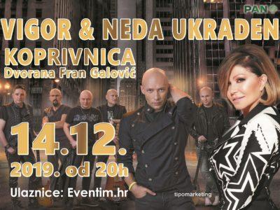Ne propustite koncert Nede Ukraden i grupe Vigor u Koprivnici 14. prosinca!