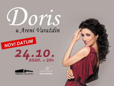 Koncert Doris Dragović u Areni Varaždin odgađa se za novi datum 24.10.2020.